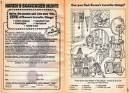 Karens Scavenger Hunt bookad from BLS 25 1stpr 1992
