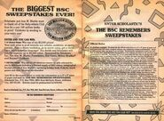 The BSC Remembers Sweepstakes bookad from 78 orig 2ndpr 1994