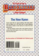 Baby-sitters Little Sister 8 Karens Haircut back cover