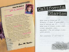 California Diaries preview booklet first inside