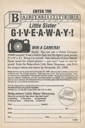 Little Sister Camera Giveaway bookad from BLS 05 1stpr 1989 42672