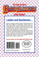 Baby-sitters Little Sister 51 Karens Big Top back cover