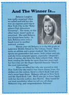 Baby-sitters Club Adventure Giveaway winner Rebecca Langlois Fan Club Newsletter 40-43 1990