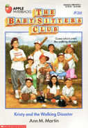 Baby-sitters Club 20 Kristy and the Walking Disaster 1989 cover