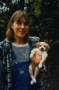 1998 with dog Sadie
