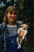 1998 with dog Sadie