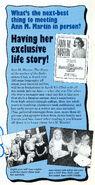 Ann M Martin author biography Fan Club Newsletter 62-64 1993