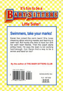 Baby-sitters Little Sister 110 Karens Swim Meet back cover