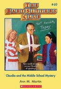 BSC 40 Claudia Middle School Mystery ebook cover