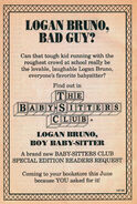 Logan Bruno Boy Baby-sitter bookad from 65 orig 1stpr 1993