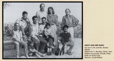 Kristy Thomas Brewer Family Portrait from 1991 Calendar