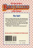 Baby-sitters Little Sister 3 Karens Worst Day back cover