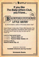 Baby-sitters Little Sister new series bookad from 20 1stpr 1989