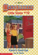 Baby-sitters Little Sister 19 Karens Good-bye cover