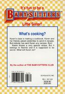 Baby-sitters Little Sister 93 Karens Cooking Contest back cover
