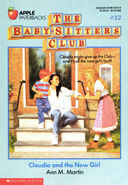 Baby-sitters Club 12 Claudia and the New Girl original cover