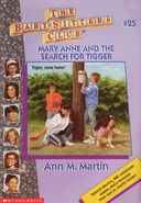 Baby-sitters Club 25 Mary Anne and the Search for Tigger reprint cover