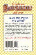 Baby-sitters Little Sister 01 Karens Witch back cover 44300 12thpr
