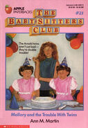 Baby-sitters Club 21 Mallory and the Trouble with Twins original cover