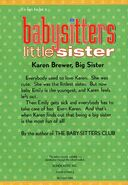 Baby-sitters Little Sister 6 Karens Little Sister reprint back cover
