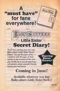 Little Sister Secret Diary bookad from BLS 19 1stpr