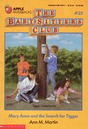 Baby-sitters Club 25 Mary Anne and the Search for Tigger original cover