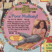 Poor Mallory Scholastic Arrow Book orders Nov 1990