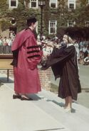 Graduating Smith college 1977