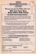 Vote Favorite Baby-sitters Club party bookad from 45 6thpr 1991