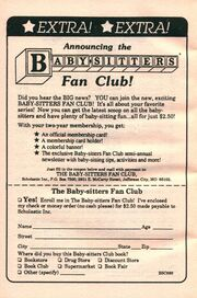 Baby-sitters Club fan club bookad from 33 orig 1990