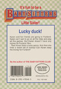 Baby-sitters Little Sister 50 Karens Lucky Penny back cover 1stprint
