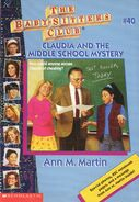 BSC 40 Claudia and the Middle School Mystery 1996 reprint cover