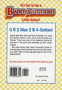 Baby-sitters Little Sister 19 Karens Good-bye back cover