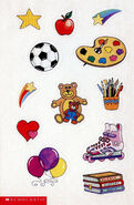 Baby-sitters Little Sister school scrapbook stickers
