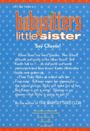 Baby-sitters Little Sister 5 Karens School Picture reprint back cover