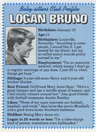 Logan Bruno Fan Club profile from summer 1992 newsletter