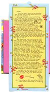 Chain Letter card 5 Stacey to Mallory inside