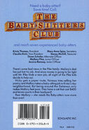Baby-sitters Club 39 Poor Mallory original back cover