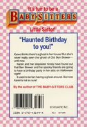 Baby-sitters Little Sister 12 Karens Ghost back cover