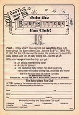 Baby-sitters fan club bookad from 51 orig 1stpr 1992