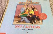1992 calendar front