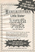 LS Book of Laughs Laugh Pack bookad from BLS 85 1stpr 1997