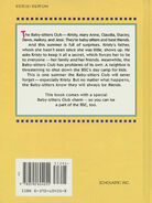 Baby-sitters Club movie novelization hardback back cover