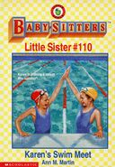 Baby-sitters Little Sister 110 Karens Swim Meet cover