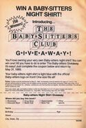 Baby-sitters Night Shirt Giveaway bookad from 23 orig 1stpr 1989