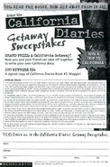 California Diaries Getaway Sweepstakes from CD1 1stpr 1997