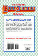 Baby-sitters Little Sister 112 Karens New Holiday back cover