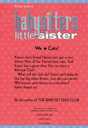 Baby-sitters Little Sister 4 Karens Kittycat Club reprint back cover