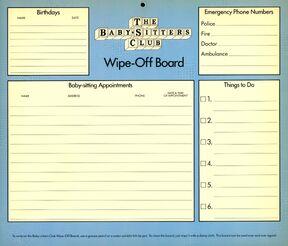 1990 Calendar Wipe-Off Board