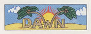 Dawn sticker from 1992 calendar